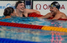 Katie Ledecky wins GOLD & sets a new WORLD Record