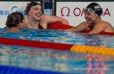 Katie Ledecky wins GOLD & sets a new WORLD Record