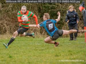 Millbrook RFC - working hard to win again - 28/2/15 Click image to view Album
