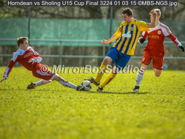 Horndean Youth vs Sholing Youth U15 Cup Final                 Click on Image to view Album