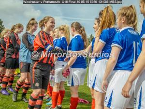 Winchester v Portsmouth , 10/05/2015, U16 Final, , , England