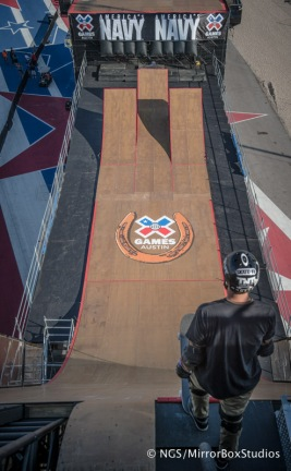 Austin, TX - June 2, 2015 - Circuit of The Americas: Big Air Practice during X Games Austin 2015. (Photo by Nick Guise-Smith / ESPN Images)