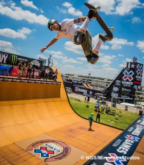 Austin, TX - June 3, 2015 - SkateBoard Vert during practice for Skateboard Vert at X Games Austin 2015.(Photo by Nick Guise-Smith / ESPN Images)