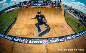Austin, TX - June 3, 2015 - Sandro Dias during practice for Skateboard Vert at X Games Austin 2015.(Photo by Nick Guise-Smith / ESPN Images)