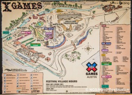 Austin, TX - June 3, 2015 - Downtown: Map of XGames at X Games Austin 2015. (Photo by Nick Guise-Smith / ESPN Images)