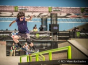 Austin, TX - June 4, 2015 - Downtown: Vanessa Torres during practice for Skateboard Street Women's at X Games Austin 2015. (Photo by Nick Guise-Smith / ESPN Images)
