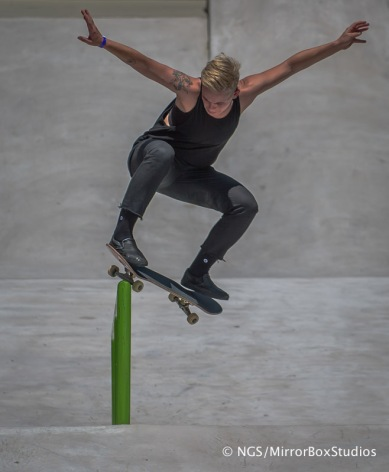 Austin, TX - June 4, 2015 - Downtown: XXXXX during practice for Skateboard Street Women's at X Games Austin 2015. (Photo by Nick Guise-Smith / ESPN Images)