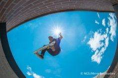 Austin, TX - June 4, 2015 - Downtown: Alexis Sablone during practice for Skateboard Street Women's at X Games Austin 2015. (Photo by Nick Guise-Smith / ESPN Images)