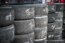 Austin, TX - June 4, 2015 - Downtown: Spare Tyres at practice for Rally Car Racing at X Games Austin 2015. (Photo by Nick Guise-Smith / ESPN Images)