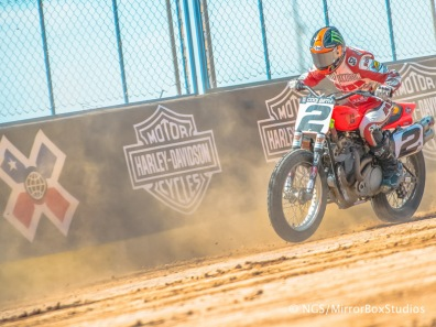 Austin, TX - June 4, 2015 - Downtown: Kenny Coolbeth Jr. competing in Harley Davidson Flat-Track Racing Seeding Session during X Games Austin 2015. (Photo by Nick Guise-Smith / ESPN Images)