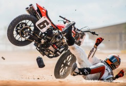 Austin, TX - June 4, 2015 - Brat Baker competing in Harley Davidson Flat-Track Racing Final during X Games Austin 2015.(Photo by Nick Guise-Smith / ESPN Images)