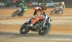 Austin, TX - June 4, 2015 - Downtown: Jared Mees, Bryan Smith and Sammy Halbert competing in Harley Davidson Flat-Track Racing Final during X Games Austin 2015. (Photo by Nick Guise-Smith / ESPN Images)