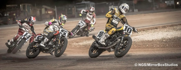 Austin, TX - June 4, 2015 - Harley Davidson Flat-Track Racing Final during X Games Austin 2015.(Photo by Nick Guise-Smith / ESPN Images)