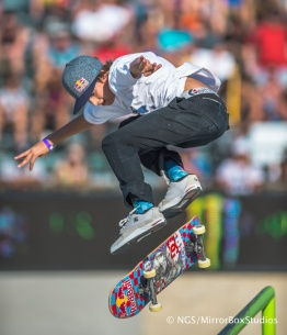 Austin, TX - June 6, 2015 - Circuit of The Americas: Jagger Eaton competing in Skateboard Street Amateurs Final during X Games Austin 2015. (Photo by XXXXX / ESPN Images)