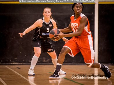 Solent Kestrels WNBL Division 1 - 28 January, 2017 - St Marys Leisure Cent. : Jodi Jerram during match against Barking Abbey (Photo by NGS/MirrorBoxStudios)