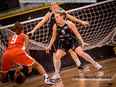 Solent Kestrels WNBL Division 1 - 28 January, 2017 - St Marys Leisure Cent. :Jodi Jerram during match against Barking Abbey (Photo by NGS/MirrorBoxStudios)