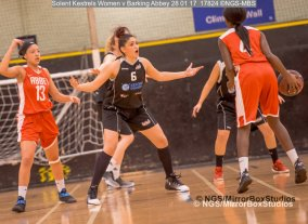Solent Kestrels WNBL Division 1 - 28 January, 2017 - St Marys Leisure Cent. : Kalina Axentieva during match against Barking Abbey (Photo by NGS/MirrorBoxStudios)