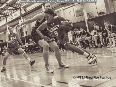 Solent Kestrels WNBL Division 1 - 28 January, 2017 - St Marys Leisure Cent. : XXXXX during match against Barking Abbey (Photo by NGS/MirrorBoxStudios)