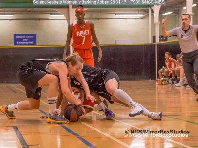 Solent Kestrels WNBL Division 1 - 28 January, 2017 - St Marys Leisure Cent. : Mel Curson during match against Barking Abbey (Photo by NGS/MirrorBoxStudios)
