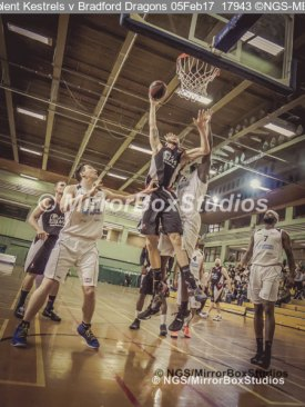 Solent Kestrels NBL Division 1 - 5 February, 2017 - Fleming Park Leisure Cent. : Ricky Fetske (13) of Bradford Dragons (Photo by NGS/MirrorBoxStudios)