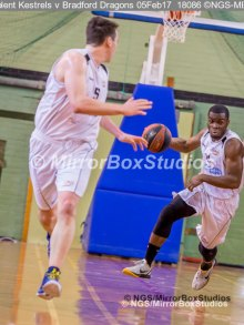 Solent Kestrels NBL Division 1 - 5 February, 2017 - Fleming Park Leisure Cent. : Stephen Danso (11) during match against Bradford Dragons (Photo by NGS/MirrorBoxStudios)