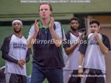 Solent Kestrels NBL Division 1 - 5 February, 2017 - Fleming Park Leisure Cent. : Coach of Bradford Dragons Mr Chris Mellor is happy with the decision. (Photo by NGS/MirrorBoxStudios)
