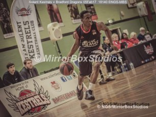 Solent Kestrels NBL Division 1 - 5 February, 2017 - Fleming Park Leisure Cent. : Bradford Dragons attack taking it to the basket (Photo by NGS/MirrorBoxStudios)