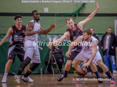 Solent Kestrels NBL Division 1 - 5 February, 2017 - Fleming Park Leisure Cent. : Chris Scarlett (13) during match against Bradford Dragons (Photo by NGS/MirrorBoxStudios)