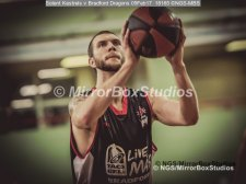 Solent Kestrels NBL Division 1 - 5 February, 2017 - Fleming Park Leisure Cent. : Ricky Fetske (13) of Bradford Dragons total focus for his freethrows. (Photo by NGS/MirrorBoxStudios)