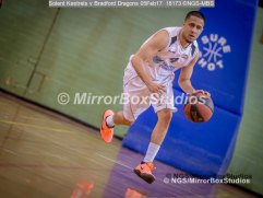 Solent Kestrels NBL Division 1 - 5 February, 2017 - Fleming Park Leisure Cent. : Caylin Raftopolous (4) starts the attack during match against Bradford Dragons (Photo by NGS/MirrorBoxStudios)