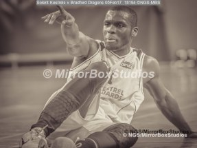 Solent Kestrels NBL Division 1 - 5 February, 2017 - Fleming Park Leisure Cent. : Stephen Danso (11), injured during match against Bradford Dragons - hope you recover soon. (Photo by NGS/MirrorBoxStudios)