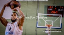 Solent Kestrels NBL Division 1 - 5 February, 2017 - Fleming Park Leisure Cent. : Jorge Ebanks (8) 2 freethrows to seal the match with just 26.4 seconds to go during the match against Bradford Dragons (Photo by NGS/MirrorBoxStudios)