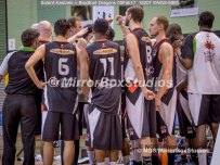 Solent Kestrels NBL Division 1 - 5 February, 2017 - Fleming Park Leisure Cent. : Bradford Dragons great team spirit, even in defeat. (Photo by NGS/MirrorBoxStudios)