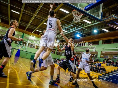 Solent Kestrels NBL Division 1 - 5 February, 2017 - Fleming Park Leisure Cent. : Louie Kirkman (5) during match against Bradford Dragons (Photo by NGS/MirrorBoxStudios)