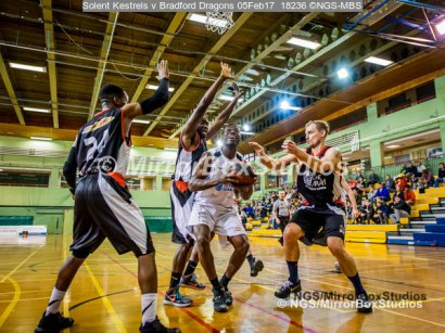 Solent Kestrels NBL Division 1 - 5 February, 2017 - Fleming Park Leisure Cent. : Jaylen Watson (21) setting up for the jump during match against Bradford Dragons (Photo by NGS/MirrorBoxStudios)