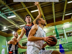 Solent Kestrels NBL Division 1 - 5 February, 2017 - Fleming Park Leisure Cent. : Petar Zagarov (12) during match against Bradford Dragons (Photo by NGS/MirrorBoxStudios)