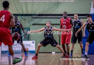 England Basketball, NBL Division 1 - 11 February, 2017 - Fleming Park Leisure Cent. : Rael Williams (6), BIG defence during match between Solent Kestrels and Reading Rockets (Photo by NGS/MirrorBoxStudios)
