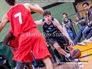England Basketball, NBL Division 1 - 11 February, 2017 - Fleming Park Leisure Cent. : Sam Van Oostrum (5) during match between Solent Kestrels and Reading Rockets (Photo by NGS/MirrorBoxStudios)