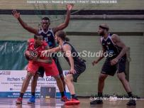 England Basketball, NBL Division 1 - 11 February, 2017 - Fleming Park Leisure Cent. : Jaylen Watson (21) Rael Williams (6) and Marquis Mathis (7) during match between Solent Kestrels v and Reading Rockets (Photo by NGS/MirrorBoxStudios)