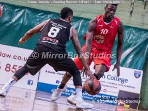 England Basketball, NBL Division 1 - 11 February, 2017 - Fleming Park Leisure Cent. : Ebrima Jassey Demba (10) during match between Solent Kestrels and Reading Rockets (Photo by NGS/MirrorBoxStudios)