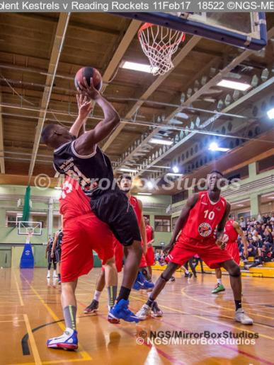 England Basketball, NBL Division 1 - 11 February, 2017 - Fleming Park Leisure Cent. : Jaylen Watson (21) during match between Solent Kestrels and Reading Rockets (Photo by NGS/MirrorBoxStudios)