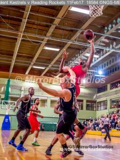England Basketball, NBL Division 1 - 11 February, 2017 - Fleming Park Leisure Cent. : Chris Scarlett (13) hit hard during match between Solent Kestrels v and Reading Rockets (Photo by NGS/MirrorBoxStudios)