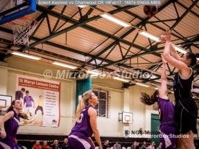 WNBL Division 1 - 18 February, 2017 - St Marys Leisure Cent. :Inga Mucinlece (15) during match between Solent Kestrels Women and Charnwood CR (Photo by NGS/MirrorBoxStudios)