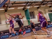 WNBL Division 1 - 18 February, 2017 - St Marys Leisure Cent. : Ekemini Essien (10) powerful defense during match between Solent Kestrels Women and Charnwood CR (Photo by NGS/MirrorBoxStudios)