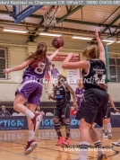 WNBL Division 1 - 18 February, 2017 - St Marys Leisure Cent. : E Maidman (8) with the layup during match between Solent Kestrels Women and Charnwood CR (Photo by NGS/MirrorBoxStudios)