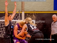 WNBL Division 1 - 18 February, 2017 - St Marys Leisure Cent. : K McDavid (15) and Stevie Ellis (13) battle for the ball during match between Solent Kestrels Women and Charnwood CR (Photo by NGS/MirrorBoxStudios)