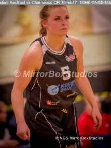 WNBL Division 1 - 18 February, 2017 - St Marys Leisure Cent. : Jodi Jerram (5) during match between Solent Kestrels Women and Charnwood CR (Photo by NGS/MirrorBoxStudios)
