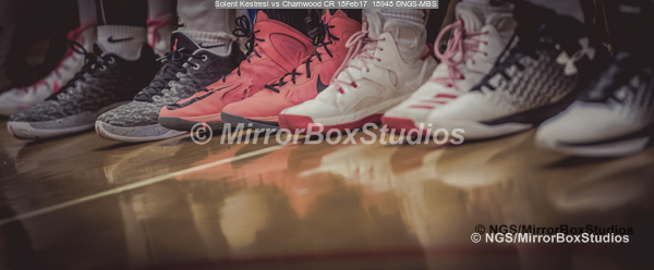 WNBL Division 1 - 18 February, 2017 - St Marys Leisure Cent. : Just liked this, so took the photo, Sneakers during match between Solent Kestrels Women and Charnwood CR (Photo by NGS/MirrorBoxStudios)
