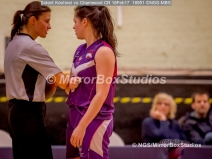 WNBL Division 1 - 18 February, 2017 - St Marys Leisure Cent. : Just checking a contact call with the Ref during match between Solent Kestrels Women and Charnwood CR (Photo by NGS/MirrorBoxStudios)