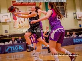 WNBL Division 1 - 18 February, 2017 - St Marys Leisure Cent. : Kalina Axentieva (6) on her take off to the basket during match between Solent Kestrels Women and Charnwood CR (Photo by NGS/MirrorBoxStudios)